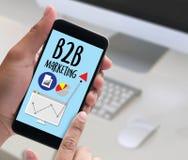 Дело маркетинга B2B к Делу Маркетингу Компании, B2B Busi Стоковая Фотография RF