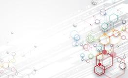 Дело предпосылки абстрактной технологии & направление развития Стоковые Фото