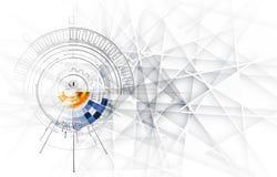 Дело & развитие предпосылки абстрактной технологии Стоковые Фото