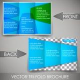 Дело 3 складывает шаблон рогульки, дизайн крышки или корпоративную брошюру Стоковое фото RF