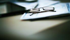 Дело финансового анализа рабочего места Стоковые Фото