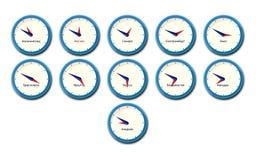 Дело, часовые пояса России Иллюстрация вектора