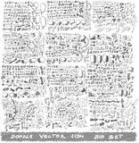 Дело doodles вектор эскиза eps10 стоковые фото