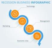 Дело Infographic рецессии Стоковые Фото