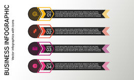 Дело infographic с значками Диаграммы, представления и диаграммы дела Предпосылка вектора Стоковое Фото
