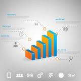 Дело infographic для дизайна Стоковая Фотография RF