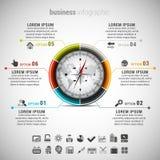 Дело Infographic Стоковые Изображения