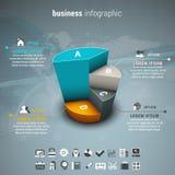 Дело Infographic Стоковая Фотография