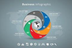 Дело Infographic Стоковое Изображение RF