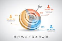 Дело Infographic Стоковая Фотография RF
