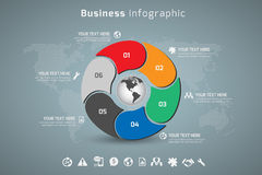 Дело Infographic Стоковые Фотографии RF