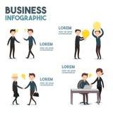 Дело - infographics Стоковое Фото