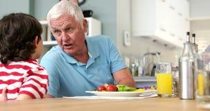 Дед разговаривая с его внуком акции видеоматериалы