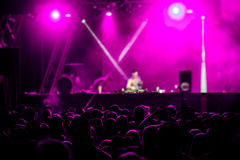 Де-сфокусированная толпа концерта Стоковое Фото