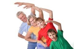 Деды и 2 внука Стоковое Изображение