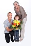 Деды и внук Стоковое Изображение RF