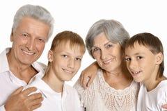 Деды и их 2 внука Стоковое Изображение RF