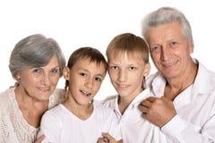 Деды и их 2 внука Стоковая Фотография RF