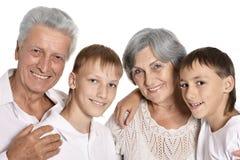 Деды и их внуки Стоковая Фотография