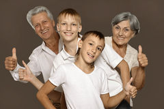 Деды и их внуки Стоковые Фото