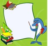 Дельфин предпосылки школы Стоковое Изображение RF