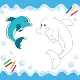 Дельфин шаржа Стоковая Фотография