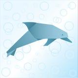Дельфин Origami Стоковое Изображение RF
