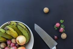Делюкс предпосылка еды Плодоовощи фотографии еды различные экземпляр Стоковое Изображение RF