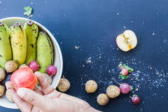 Делюкс предпосылка еды Плодоовощи фотографии еды различные экземпляр Стоковое фото RF