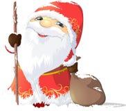 Дед Frost покрашенный на белой предпосылке стоковые фотографии rf