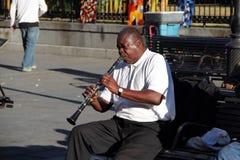 Джазовый музыкант французского квартала Стоковая Фотография RF