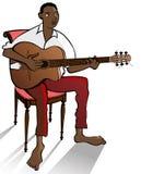 джаз гитариста Стоковые Изображения RF