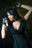 Джаз петь женщины Стоковое фото RF