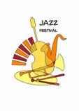 Джаз плаката Стоковая Фотография RF