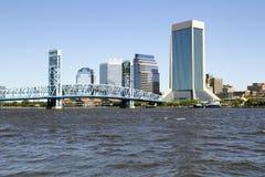 Джексонвилл, горизонт Флориды и река Стоковое Изображение RF