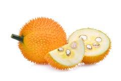 Джекфрут младенца, плодоовощ Gac при кусок изолированный на белизне Стоковые Изображения