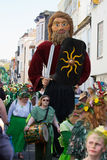 Джек в зеленом фестивале Hastings 2013 Стоковые Изображения