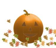 Джек-O-фонарик в листьях Стоковое Изображение RF