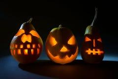 Джек-o-фонарик на хеллоуине стоковые изображения rf