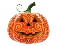 Джек-o-фонарик тыквы хеллоуина изолированный на белом backround Стоковые Фотографии RF