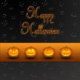 Джек-o-фонарик тыкв хеллоуина Стоковые Фото