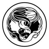 Джемини дублирует знак гороскопа зодиака Стоковое Фото