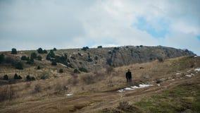 Джентльмен идет к верхней части balaklava Крым Стоковая Фотография RF