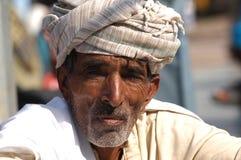 Джентльмен на верблюде справедливом, Jaisalmer, Индия Стоковые Фотографии RF