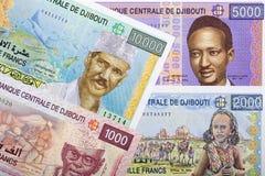 Джибутийскый франк, предпосылка стоковая фотография rf