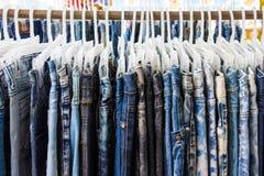Джинсовая ткань джинсов для дизайна и предпосылки Стоковые Изображения RF