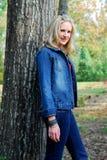 джинсовая ткань красотки Стоковое Изображение RF