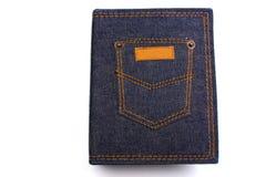 джинсовая ткань крышки альбома Стоковое Фото