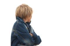 джинсовая ткань мальчика Стоковые Изображения