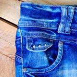 Джинсовая ткань сини конца-вверх Стоковое Фото